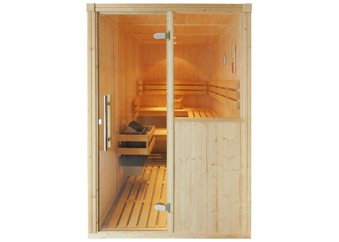 Oceanic Traditional Finnish sauna with half glass panel