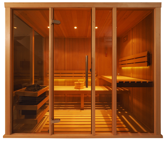 Oceanic Vision Sauna Glass Front