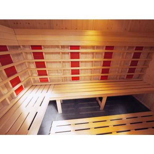 5 Person Commercial Infrared Sauna Disabled Access L Benches - IR2040