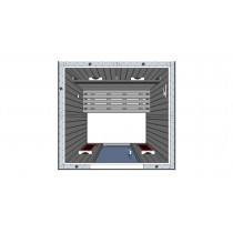 Infrared 2 person home sauna IR2020 Floor Plan