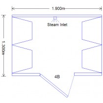 4 Person Home Roman Steam Room DG4B Technical Drawing