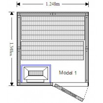 2 Person Oceanic Traditional Home Sauna Floor plan
