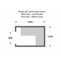 2 Person Commercial Turkish Steam Room Model 2B