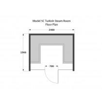 6 Person Commercial Turkish Steam Room Model 5C
