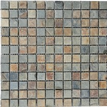 Multi Slate Natural Stone Mosaic 305 x 305mm