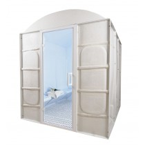 10 Person Commercial Acrylic Steam Room DG10BC Floor Plan