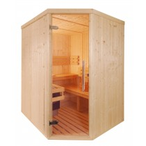 4 Person Traditional Corner Door Sauna - D2035