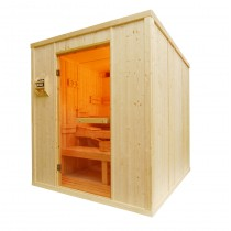 14 Person Heavy Duty Sauna - HD4050BB Floor Plan