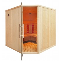 4 Person Commercial Infrared Sauna L Benches & Corner Door IR3030
