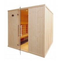 5 Person Commercial Infrared Sauna - IR3030  (L Benches)