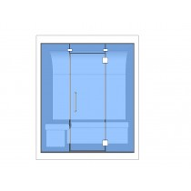 2 Person Turkish Steam Room Model 2C Floor Plan