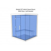 4 Person Commercial Turkish Steam Room Model 3D