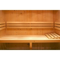 Deluxe Abachi Sauna Bench, Backrest and Floor mat Kit