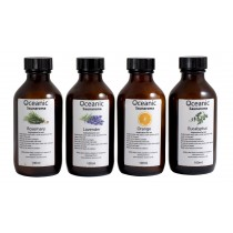 Sauna Fragrances 4 x 100ml Bottles  (Rosemary, Lavender, Orange, Eucalyptus)