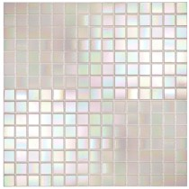 Pearl White iridescent - Straight Edge 325 x 325mm
